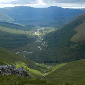 Tour auf den Letterbreckaun, Blick vom Sattel hinüber in das Tal im Osten